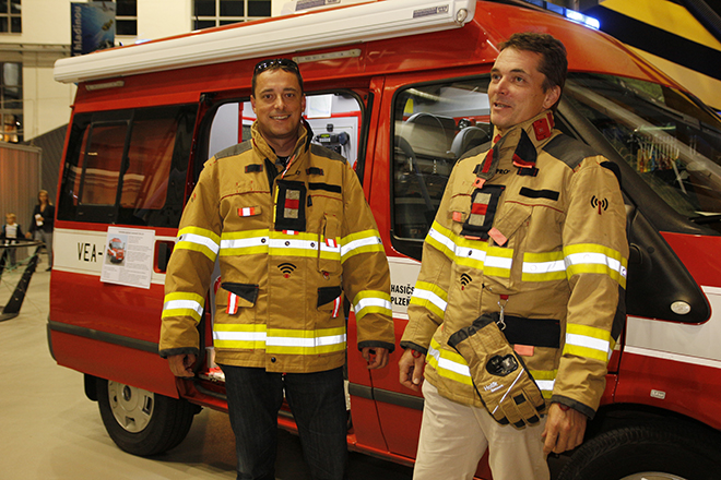 Smart firefighter suit at Scientist's Nights