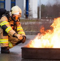 Smart suit for firefighters tested in campus